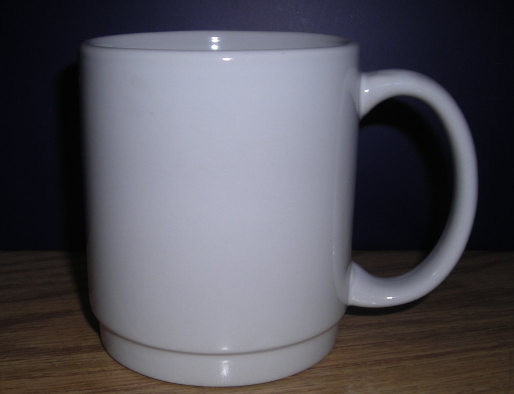 White Stacking C-Handle mug
